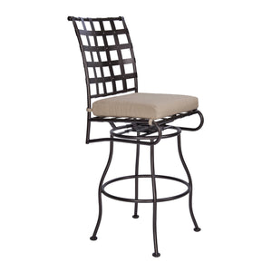 Classico Armless Swivel Bar Stool - Copper Canyon