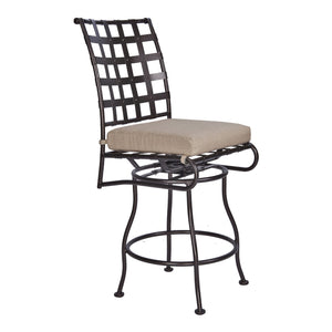 Classico Armless Swivel Counter Stool - Copper Canyon