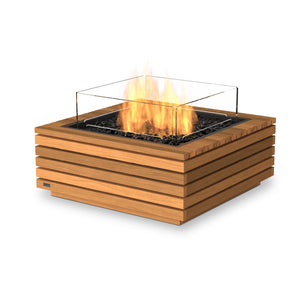 EcoSmart Fire Base 30 Teak Fire Table