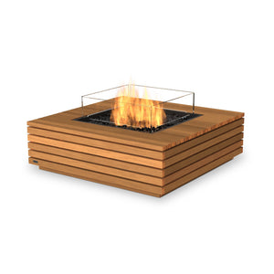 EcoSmart Fire Base 40 Teak Fire Table