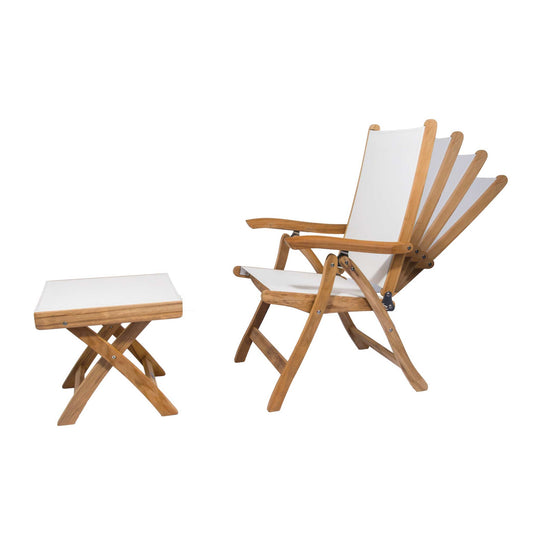 Florida Sling Teak Reclining Chair - Starfire Direct