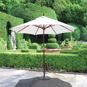 Galtech 232 9' 2-Pulley Lift Dark Wood Umbrella
