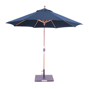 Galtech 537TK 9' Teak Rotational Tilt Umbrella