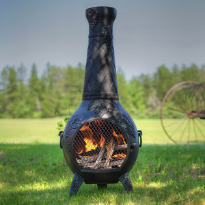 Grape Gas Chiminea