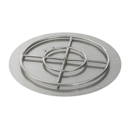 High Capacity Round Stainless Steel Flat Pan with Kit - Natural Gas - Starfire Direct