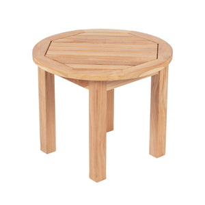 Miami Teak Round Side Table - Starfire Direct