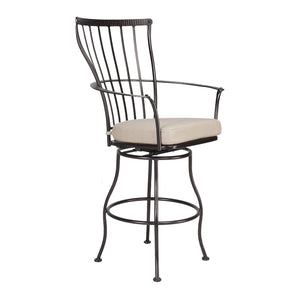 Monterra Swivel Bar Stool with Arms - Copper Canyon