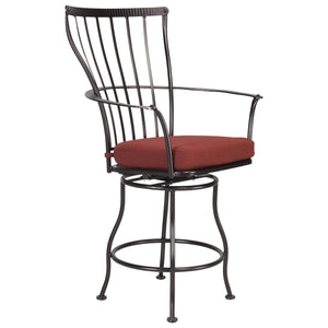 Monterra Swivel Counter Stool with Arms - Copper Canyon - Starfire Direct