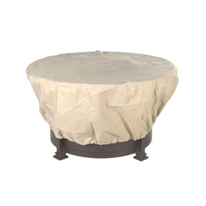 "OW Lee 42"" Round Fabric Fire Pit Table Cover"