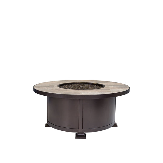 "OW Lee 42"" Round Occasional Height Vulsini Fire Pit Table"