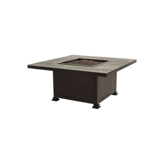 "OW Lee 42"" Square Occasional Height Santorini Fire Pit Table"
