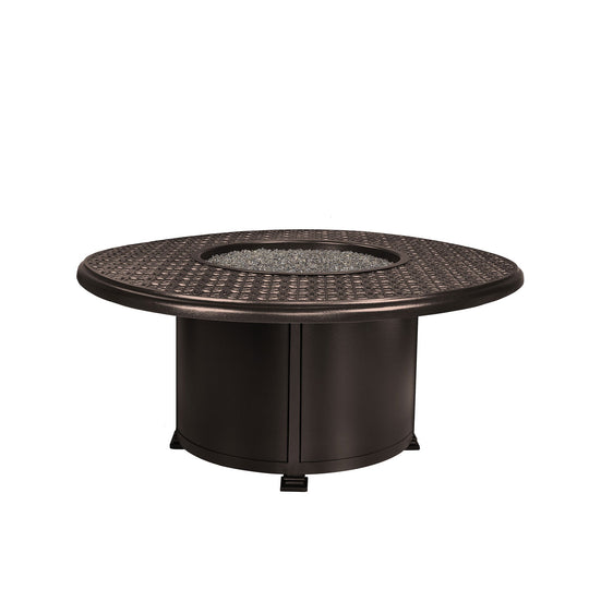 "OW Lee 54"" Round Chat Height Richmond Fire Pit Table"
