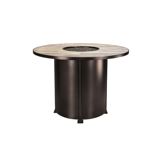 "OW Lee 54"" Round Counter Height Santorini Fire Pit Table"