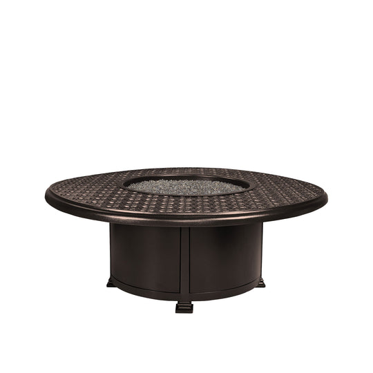 "OW Lee 54"" Round Dining Height Richmond Fire Pit Table"