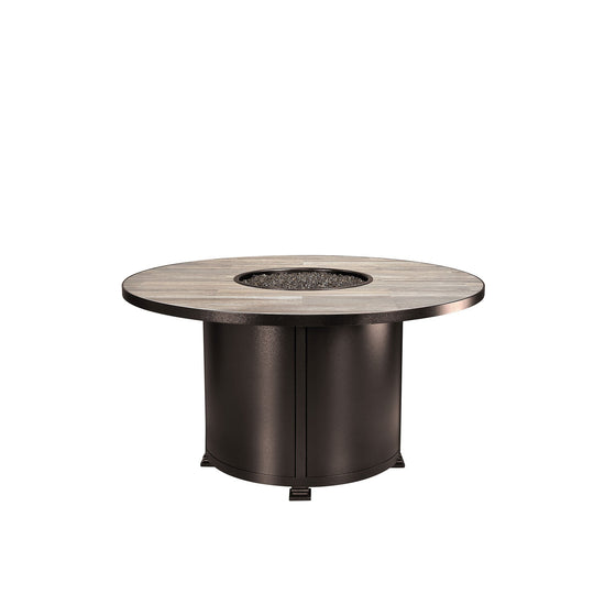 "OW Lee 54"" Round Dining Height Santorini Fire Pit Table"