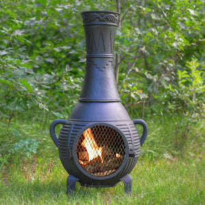 Pine Gas Chiminea