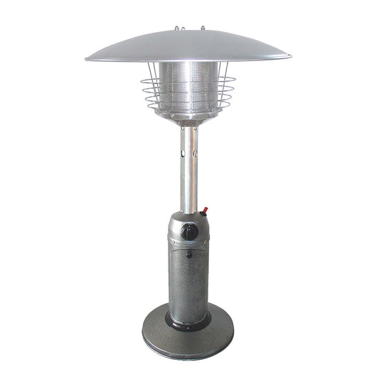 Portable Hammered Silver Table Top Heater