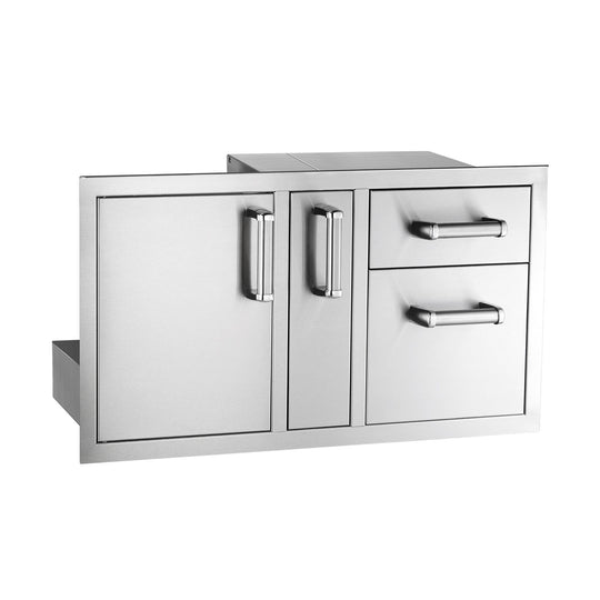 Premium Access Door with Platter Storage and Double Drawers - Flush Mount - Starfire Direct