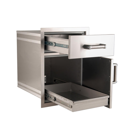Premium Medium Pantry Door and Drawer Combo - Flush Mount - Starfire Direct