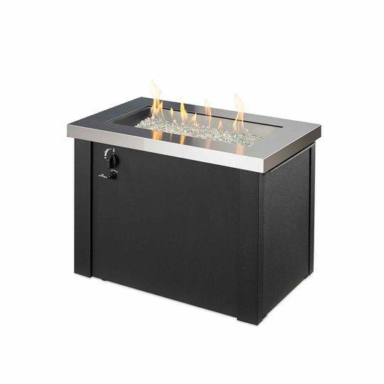 Providence Rectangular Gas Fire Pit Table