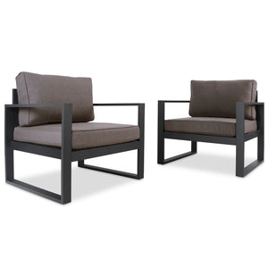 Real Flame Baltic Casual Outdoor Club Chairs (Set of 2)
