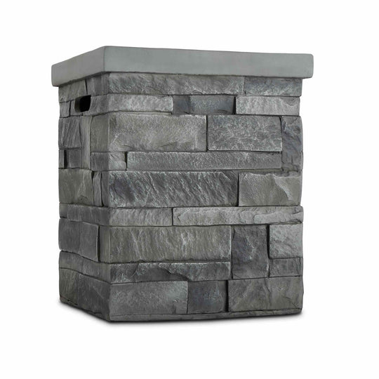 Real Flame Ledgestone Propane Tank Cover in Gray - Starfire Direct