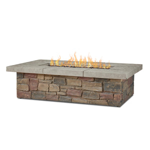 "Real Flame Sedona 52"" Rectangle Gas Fire Table"
