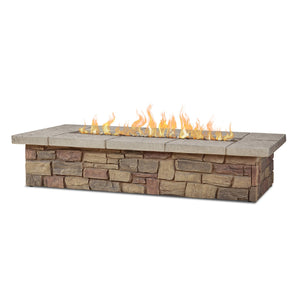 "Real Flame Sedona 66"" Rectangle Gas Fire Table"