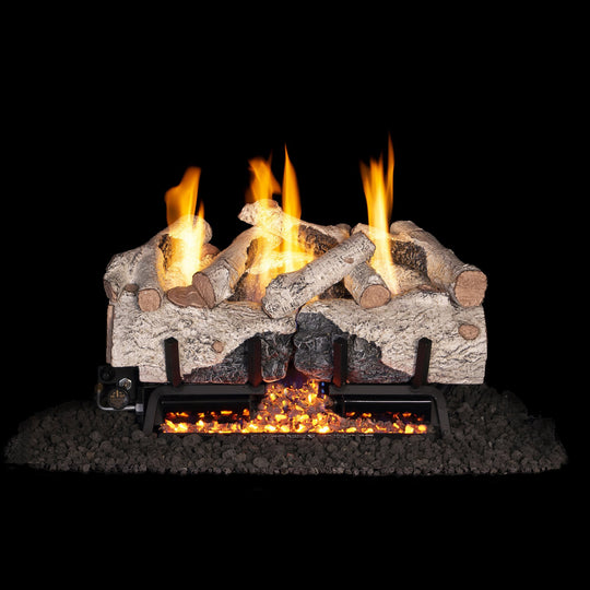 Real Fyre Vent-Free Charred Alpine Birch Gas Logs