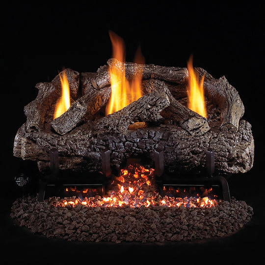 Real Fyre Vent-Free Charred Frontier Oak Gas Logs