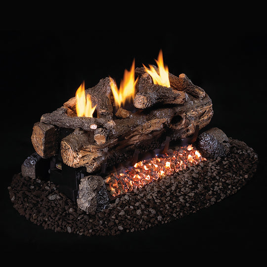 Real Fyre Vent-Free See-Thru Evening Fyre Split Gas Logs