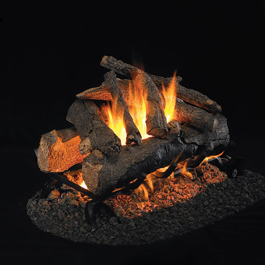 Real Fyre Vented American Oak See-Thru Gas Logs
