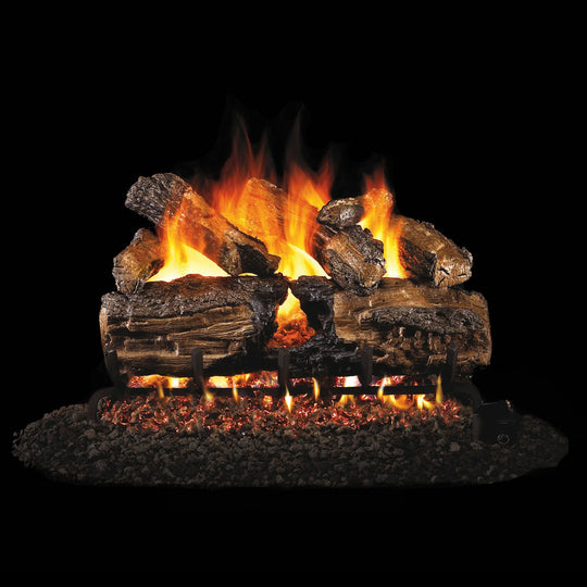 Real Fyre Vented Burnt Split Oak Gas Logs