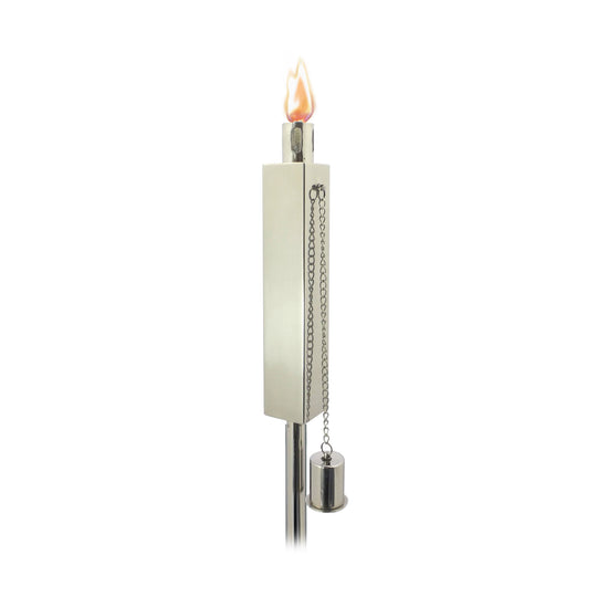 Rectangular Torch in Polished Stainless Steel (Set of 2) - Starfire Direct