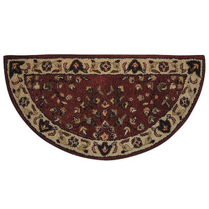 Red Floral Hand-Tufted Wool Hearth Rug - Starfire Direct