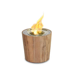 Sag Harbor Teak TableTop Fireplace - Starfire Direct
