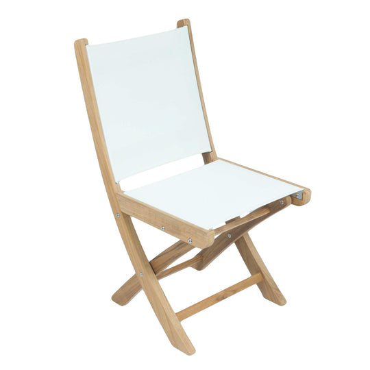 SailMate Folding Teak Side Chair - Starfire Direct