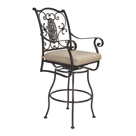 San Cristobal Swivel Bar Stool With Arms - Copper Canyon