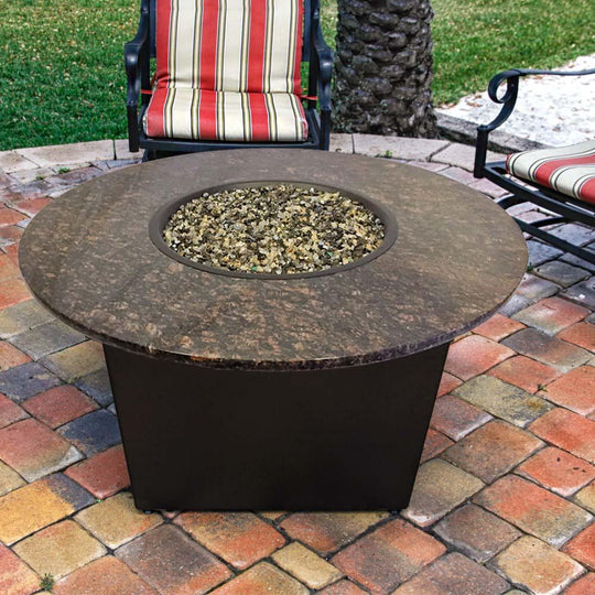 Santiago Fire Table with Brown Granite Top - Starfire Direct