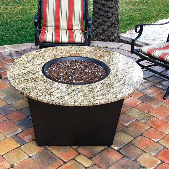Santiago Fire Table with Santa Cecilia Granite Top and Cooking Package - Starfire Direct