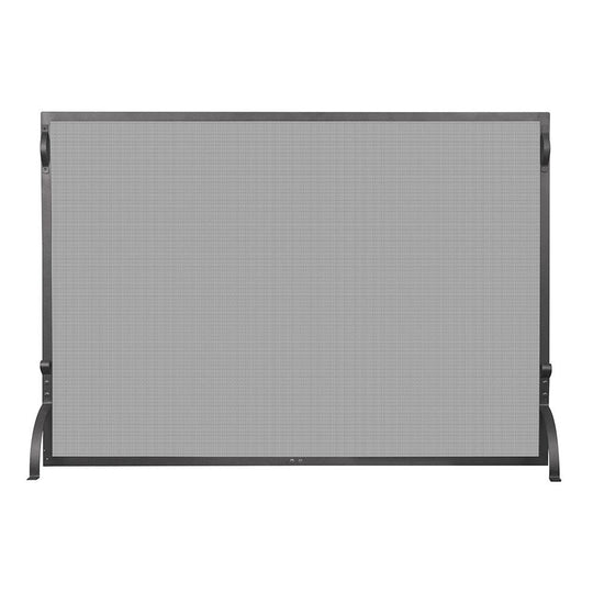 Single Panel Black Wrought Iron Sparkguard - Large - Starfire Direct