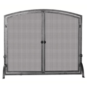 Single Panel Olde World Iron Screen with Doors - Large - Starfire Direct