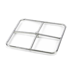 Square Stainless Steel Fire Ring