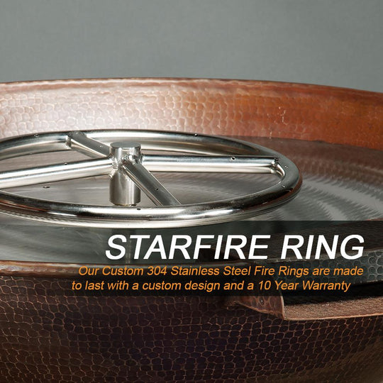"30"" Taza Moreno Copper Fire and Water Bowl - Starfire Direct"
