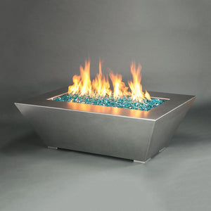 "Starfire Designs 48"" x 32"" Stainless Steel Edge Gas Fire Pit"