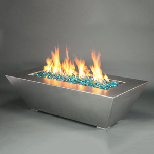 "Starfire Designs 60"" x 32"" Stainless Steel Edge Gas Fire Pit"