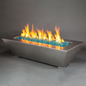 "Starfire Designs 72"" x 40"" Stainless Steel Edge Gas Fire Pit"
