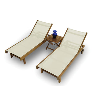 Teak SunDaze Lounger - Starfire Direct
