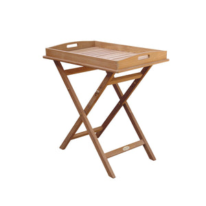 Teak Tray on Stand - Starfire Direct