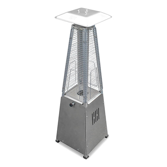 Tornado Flame Table Top Heater in Stainless Steel